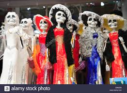 halloween in mexico katrina skeletons for sale in market in mexico city stock photo