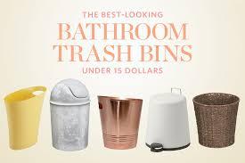 10 sleek u0026 stylish modern bathroom wastebaskets for under 35