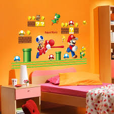 Super Mario Bedroom Decor Aliexpress Com Buy Mario Wall Sticker Game Home Decor Cartoon