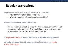 regex pattern website url ppt on regular expression test
