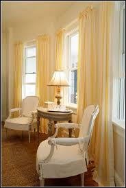 Yellow Stripe Curtains Yellow And White Striped Curtains Home Design Ideas And Pictures