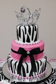 black pink and white birthday cakes