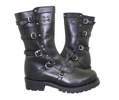 womens xelement boots xelement black performance black revolver leather boots freds