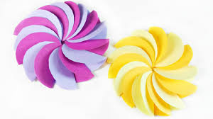 diy paper circle flower for wall backdrop decoration arts and