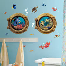finding nemo wall decals ebay finding nemo wall decals new giant kids bathroom stickers disney room decor