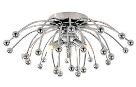 anemone clear chrome effect 3 lamp ceiling light departments