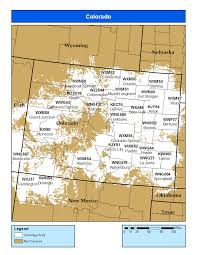 County Map Of Colorado by Noaa Weather Radio Colorado