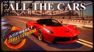 all the cars asphalt racing all the cars