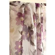 Purple Drapes Or Curtains Purple Floral Dreams Printed Sheer Curtain Panels