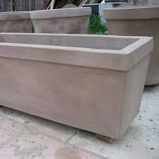 Concrete Rectangular Planter by Concrete Creations Cad Bim And Specs Caddetails