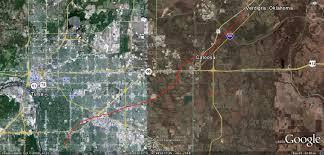 Tornado Map Scenario F5 Tornado Cuts Path From Tulsa To Verdigris Scenario