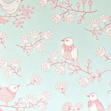 papier peint fille chambre papier peint oiseaux turquoise majvillan déco chambre enfant