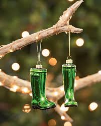 garden christmas ornaments green glass wellies ornaments must