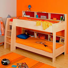 Plywood Bunk Bed Bedroom Affordable Plywood Kid Bunk Bed Design With Orange