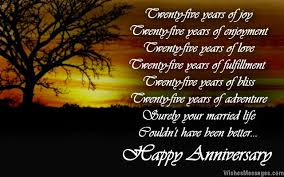 25th Anniversary Wishes Silver Jubilee Best Quotes For 25th Wedding Anniversary Image Quotes At