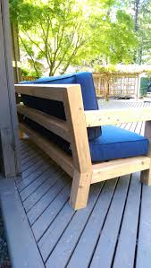 Patio Furniture Without Cushions Diy Modern Rustic Outdoor Sofa Inspired By Rh Merida Gray Table Home