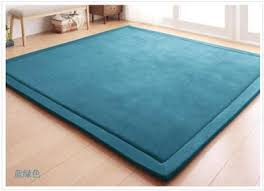 Teal Floor Rug Thick Floor Rugs Tatami Mat Play Mat Christmas Gift 80cm X 200cm