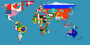 Picture Of The World Map Updated Version Of The Flag Map I Put Together Oc 1920x1080