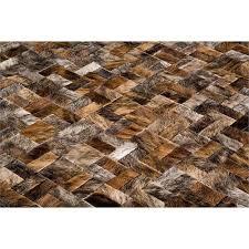 brindle patchwork cowhide rug anodyne from kyle bunting inc