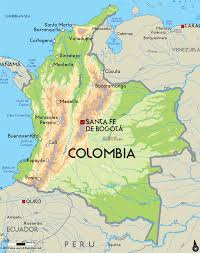 United States Map With State Names And Capitals by Map Of Columbia With The Capital Bogota South American Capitals
