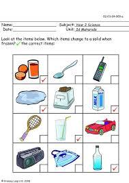 primaryleap co uk freezing materials worksheet