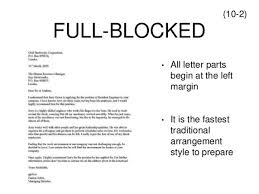 best ideas of full block style letter definition for your form
