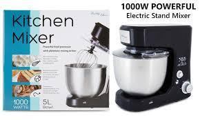 Kitchen Stand Mixer by Stand Mixer 1000w Black Electric Food Processor Benchtop Dough