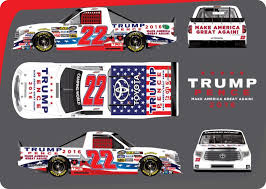 no 22 truck will have a trump pence paint scheme for talladega