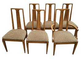 mid century high back dining chairs set of 6 chairish