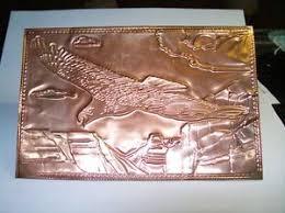 kopper kard postcards vintage copper postcard kopper kard co eagle canyons engraved on