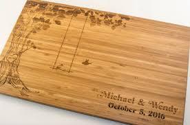 wedding cutting board cutting board personalized wedding gift birds in a tree swing