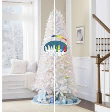 ge 7 5 white flocked vermont pine tree with 400 dual