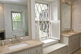 napolina limestone transitional bathroom martha stewart