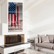 American Flag Living Room by American Flag Cross Multi Panel Canvas Wall Art U2013 Elephantstock