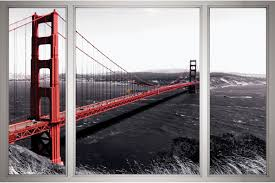 mural san francisco bridge window view grey wallpapers mural san francisco bridge window view grey