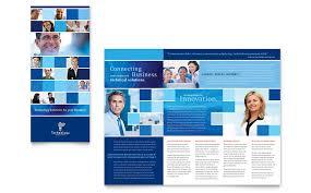 tri fold brochure publisher template technology consulting it tri fold brochure template word