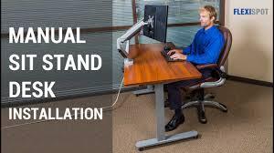 tresanti sit stand desk costco flexispot 48 manual height adjustable sit stand desk with crank