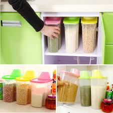 1 8 2 5l plastic dried food cereal flour rice storage box grain