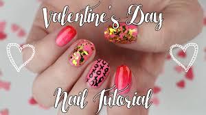 easy valentine u0027s day nail art ombré glitter xo designs video