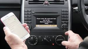 mercedes bluetooth cradle how to pair a phone to the bluetooth system in a mercedes b