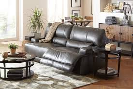 Gray Recliner Sofa Living Room Stede Leather Power Reclining Sofa Charcoal