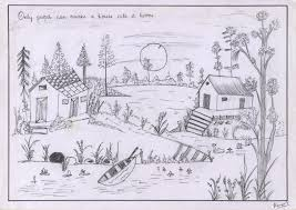 natural scenery pencil drawing for kids pencil sketches of nature