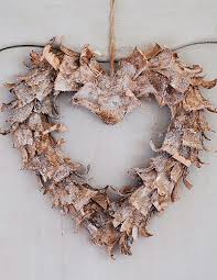 Birch Bark Deer Christmas Decorations by Curled Birch Bark Adds Real Beauty To This Rustic Heart Shaped