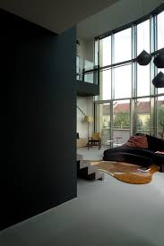 Grey Floor Living Room Apartments Dark Wall And Grey Floor With High Ceiling Design For