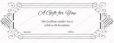 business gift certificates certificate templates