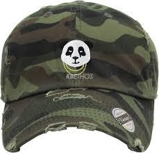 cap designer kbethos panda hats baseball cap hat washed designer unisex