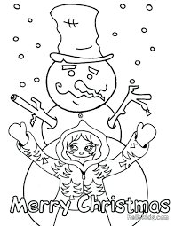 coloring book pages of snowmen snowman page winter frosty the