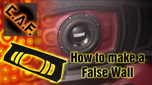 how to make a fiberglass subwoofer box 19 steps with pictures how to make a false wall subwoofer box hide speaker enclosure