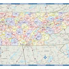 Map Of Tennesse Tennessee Counties Wall Map Maps Com