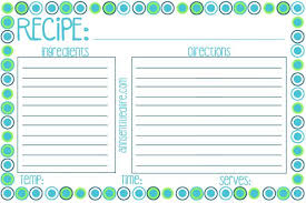printable recipes free printable recipe card meal planner and kitchen labels